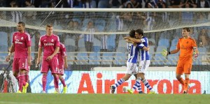 Real Sociedad's midfielder Esteban Grane